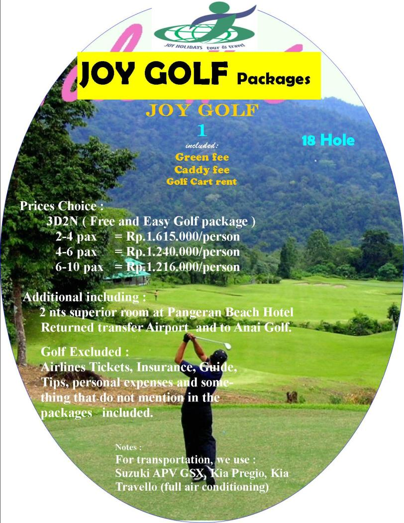 Golf free & easy package