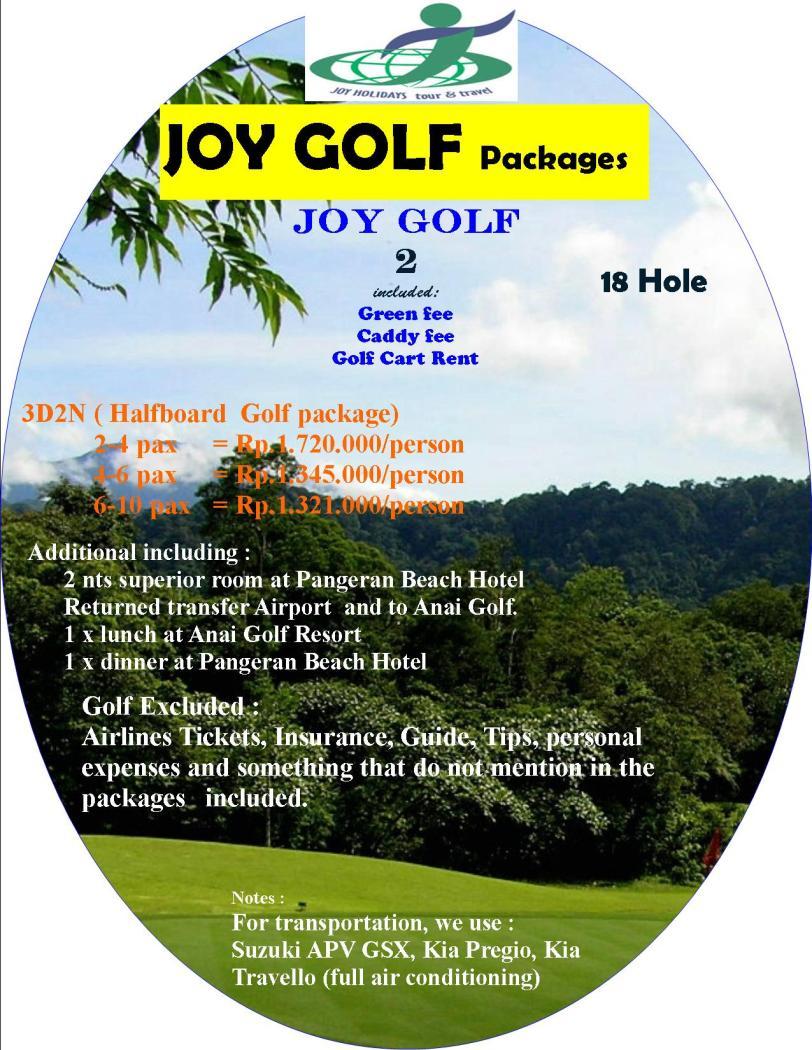 Halfboard Golf package