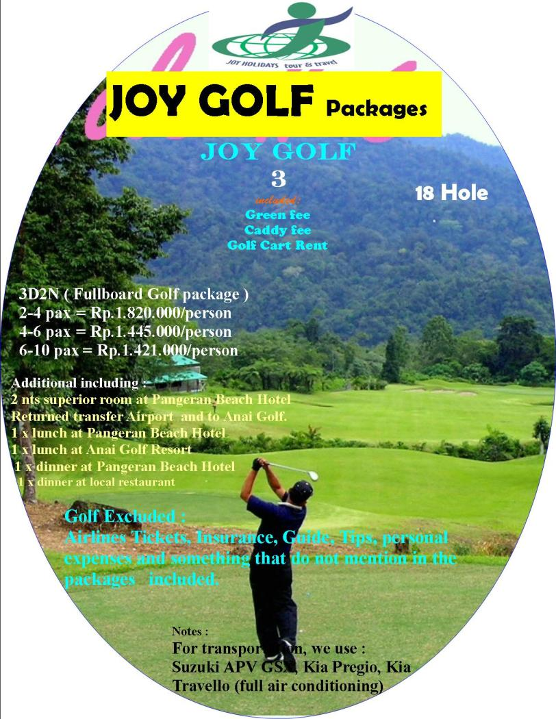 Fullboard Golf package 3D2N at Anai resort West Sumatra, Indonesia