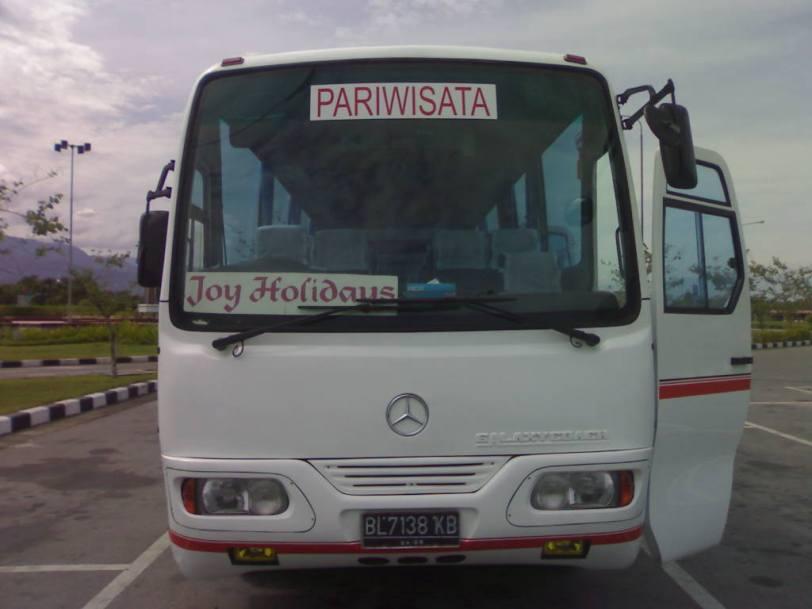 Tourism Bus in West Sumatra