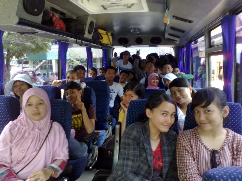 enjoy in the bus